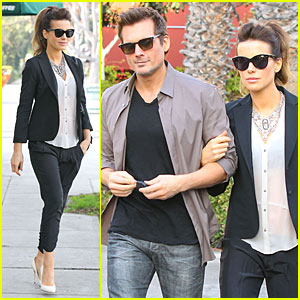 Kate Beckinsale & Len Wiseman Hook Arms at Fred Segal!