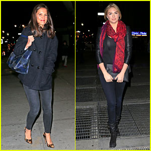 Katie Holmes & Kate Upton: New York Knicks Game!
