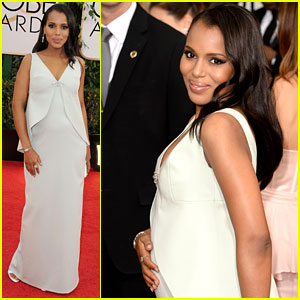 Kerry Washington Debuts Baby Bump at Golden Globes 2014!