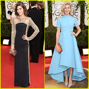 Lizzy Caplan & Caitlin FitzGerald - Golden Globes 2014