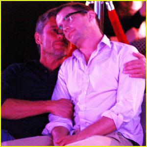 Matt Bomer Cuddles with Simon Halls at Cabo Birthday ...