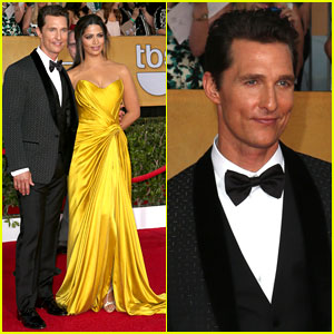 Matthew McConaughey: SAG Awards 2014 Red Carpet with Camila Alves