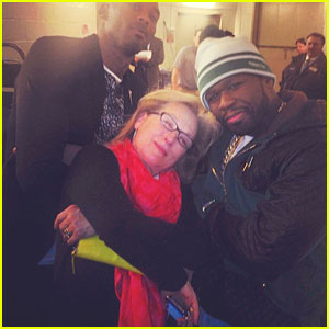 Meryl Streep Gets 'Gangsta' with 50 Cent at Knicks Game!