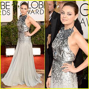 Mila Kunis - Golden Globes 2014 Red Carpet