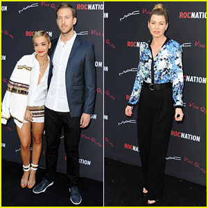 Rita Ora & Calvin Harris: Red Carpet Couple Debut!
