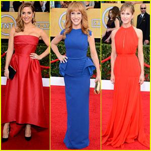 Sasha Alexander & Holly Hunter - SAG Awards 2014 Red Carpet