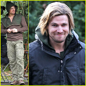 Stephen Amell Wears Shaggy, Long-Haired Wig for 'Arrow'!