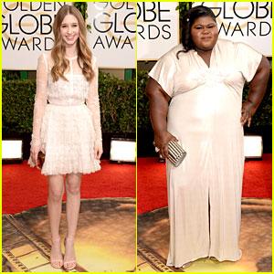 Taissa Farmiga & Gabourey Sidibe - Golden Globes 2014