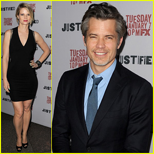 Timothy Olyphant & Joelle Carter: 'Justified' Season 5 Premiere!