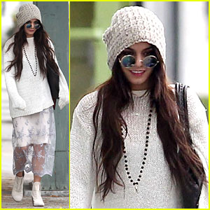 Vanessa Hudgens Channels Yoko Ono in Boho Chic Sunglasses