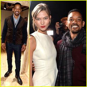 Will Smith & Karlie Kloss: Dior Homme Fashion Show in Paris!