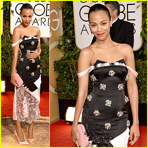 Zoe Saldana - Golden Globes 2014 Red Carpet