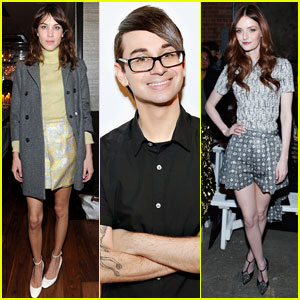 Alexa Chung & Lydia Hearst: Christian Siriano Fashion Show & After-Party