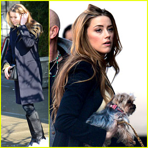 Amber Heard Steps Out Sans Johnny Depp on Valentine's Day