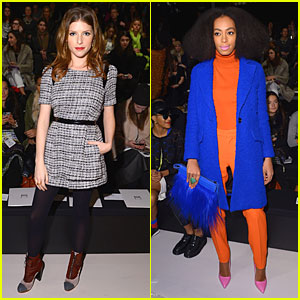 Anna Kendrick & Solange Knowles: Milly By Michelle Smith Fashion Show!