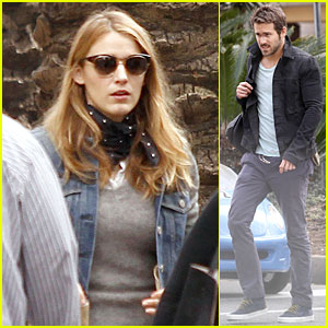 Blake Lively Visits Ryan Reynolds on 'Mississippi Grind' Set!