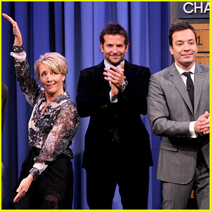 Bradley Cooper & Emma Thompson Play Charades on 'Fallon'!