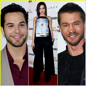 Camilla Belle & Skylar Astin: 'Cavemen' Hollywood Premiere!