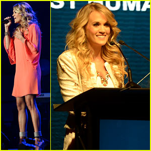 Carrie Underwood Honored with Artist Humanitarian Award at CRS 2014!