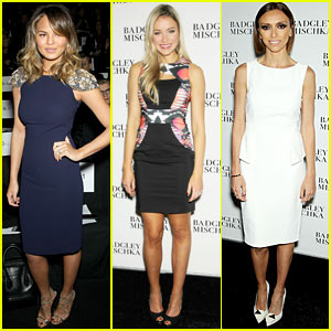 Chrissy Teigen & Katrina Bowden are Front Row Fabulous at Badgley Mischka Show