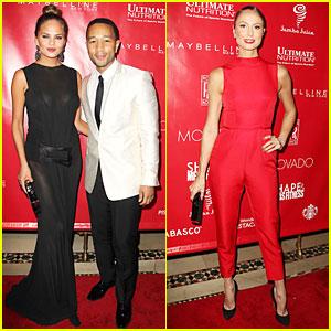 Chrissy Teigen & John Legend: Super Bowl 2014 Kick Off Party!