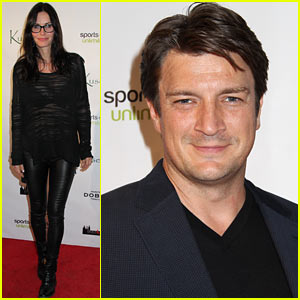 Courteney Cox & Nathan Fillion Step Out for Kusewera Benefit!