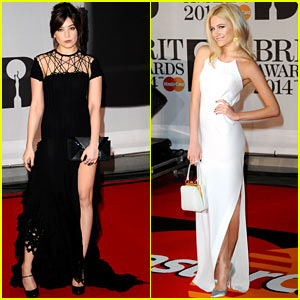 Daisy Lowe & Pixie Lott - BRIT Awards 2014 Red Carpet