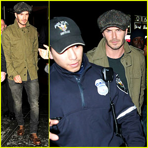 David Beckham Gets Police Escort to New York Knicks Game