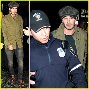 David Beckham Gets Police Escort to New York Knicks Game
