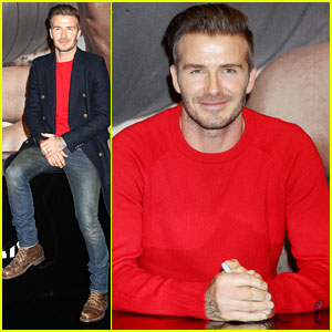 David Beckham Promotes H&M Bodywear Collection in NYC