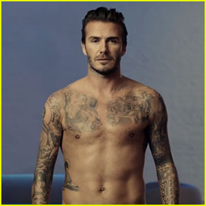 David Beckham Strips Down for H&M Super Bowl Commercial 2014 (Video)
