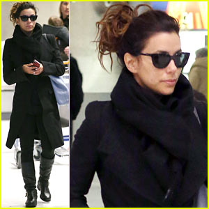 Eva Longoria Arrives in France for L'Oreal Paris Shoot