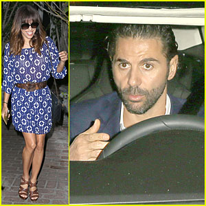 Eva Longoria Rocks New Bangs & Gets Picked Up By Jose Baston!