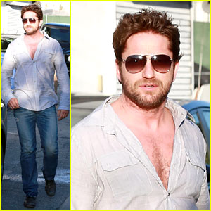 Gerard Butler Visits the Salon Before Doing 'Dragon 2' Press!