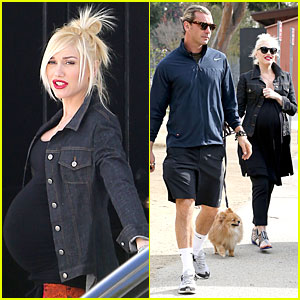 Gwen Stefani Looks About Ready to Pop in Brentwood!
