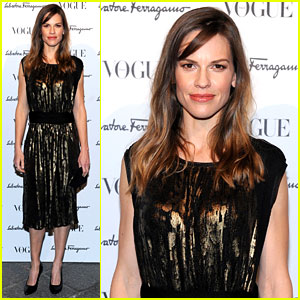 Hilary Swank Switches Up Her Look for Ferragamo After Party