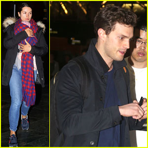 Jamie Dornan Leaves Vancouver with His Wife & Daughter!