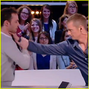 Joel Kinnaman Robo-chokes French Interpreter Live on TV