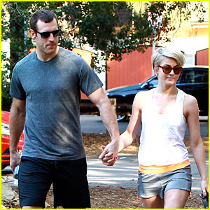 Julianne Hough Holds Hands with Hockey Player Brooks Laich!