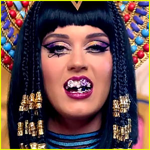 Katy Perry Wears Grillz as Katy-Patra for 'Dark Horse' Video Promo - Watch Now!