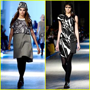 Cara Delevingne & Kendall Jenner Walk Runway at Giles Show!