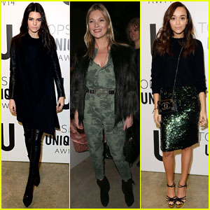Kendall Jenner & Kate Moss: Topshop Unique Show at London Fashion Week 2014
