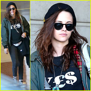 Kristen Stewart Adds More Layers After Landing in Paris