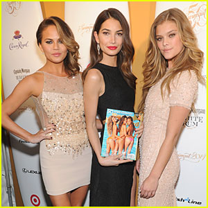 Lily Aldridge & Chrissy Teigen: 'SI' 50 Years of Swim Celebration with Nina Agdal!