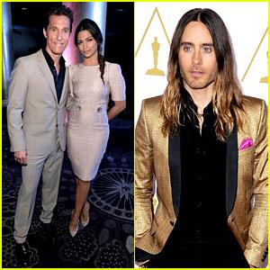 Matthew McConaughey & Jared Leto - Oscars Nominees Luncheon 2014