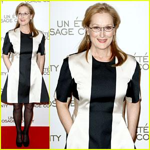 Meryl Streep Rocks Pocket Dress at 'August' Paris Premiere!