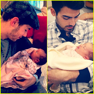 Nick & Joe Jonas Meet Brother Kevin's Baby Girl Alena!