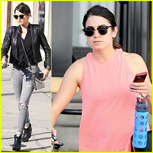 Nikki Reed Rocks Leather For Spot Shopping!