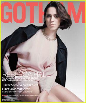 Rebecca Hall Covers 'Gotham' Magazine's Winter Issue 2014