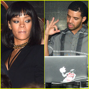Rihanna Supports Drake at Paris Club Anniversary Party